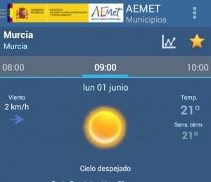 temperatura semana 1-7