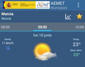 temperatura semana 15-21