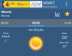 temperatura semana 20-26
