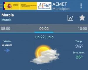 temperatura semana 22-28