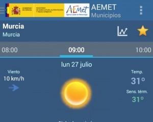 temperatura semana 27-31