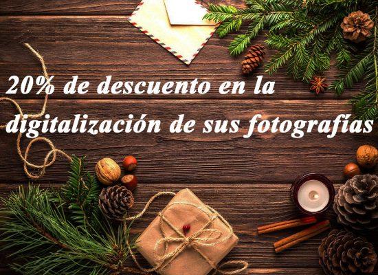 Le deseamos una feliz navidad con el 20% de descuento en la digitalización de sus fotografías